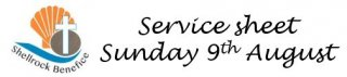 Our service this week - 9th August